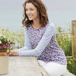Lilly & me Cleeve Top Seagulls – Paradise Pink