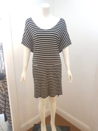 Eb & Ive -T.Shirt Dress – Black & White Striped
