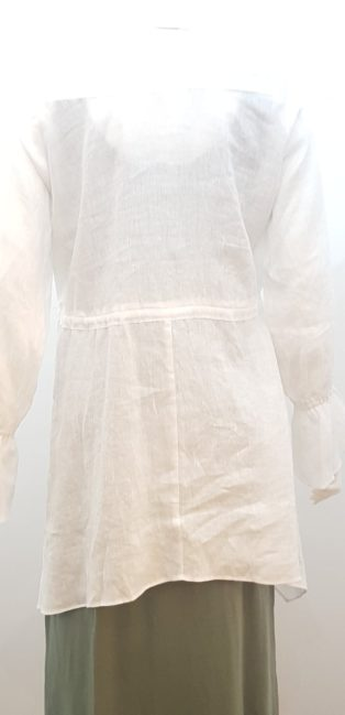 Eb & Ive – Korbell Waterfall Linen  Tunic Shirt – White