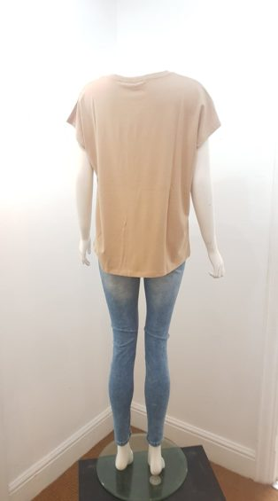 Vero Moda – Naomiava Short Sleeve Wide Cut T.Shirt – Taupe