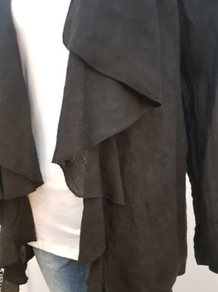 Diverse – Linen Waterfall Jacket – Black