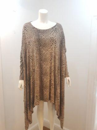 Diverse – Oversized Tunic –  Leopard Print