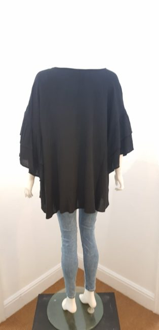 Eb & Ive – Pleated Smock Tunic – Black
