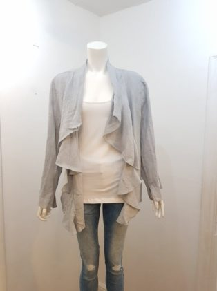 Diverse – Linen Waterfall Jacket – Grey