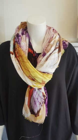 Pia Rossini – Scarf – Abstract Pattern – Purple