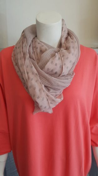 Reevo – Scarf – Pink & Grey Spots & Checks