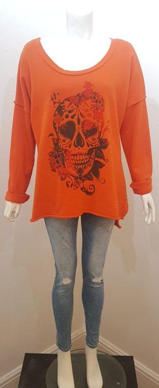 Studio – Skull Sweatshirt – Orange