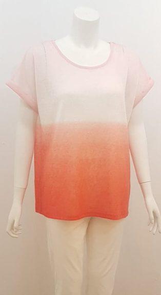 Soya Concept – Aretha T.Shirt – Pink Shading.