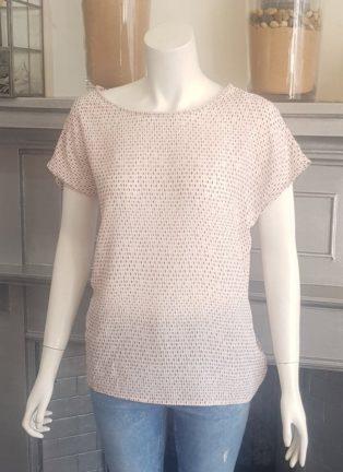 Soya Concept – Solea Top – Pink & Grey