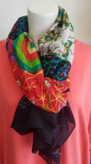 Pia Rossini – Mix of Bright Prints Scarf – Vibrant Colours