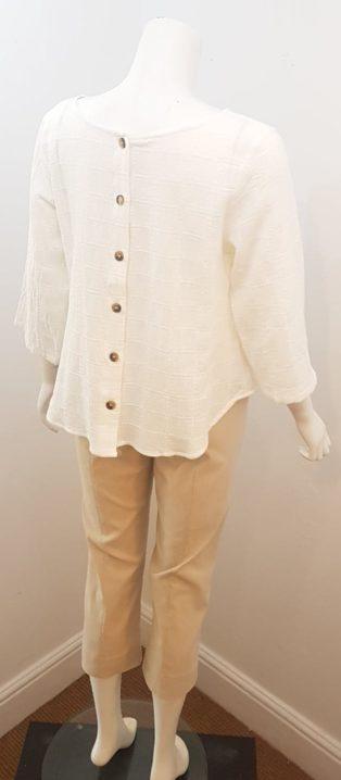 Eb & Ive – Silas Reversible Jacket/Top – Vanilla