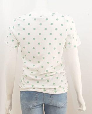 Saint Tropez – S/S T.Shirt – White with Green Spots