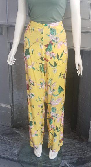 Vero Moda – Easy Wide Pant – Yellow Print