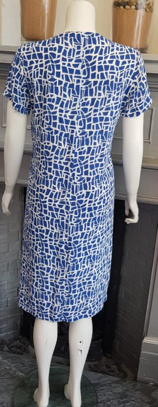 Capri – Dress – Blue & White Print