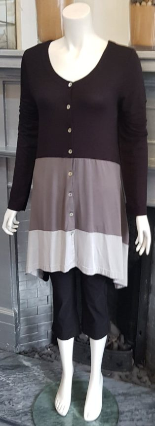 Capri – Button Through Tunic – Black