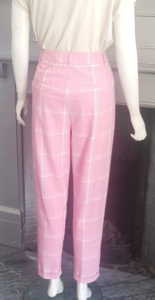 Vero Moda – Ida Ankle Pants – Pink & White Check