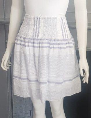 Saint Tropez – Cotton Skirt – Blue & White Stripe