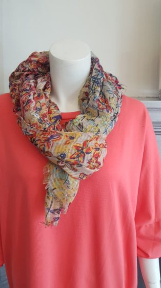 Reevo – Wild Flowers Scarf – Yellow