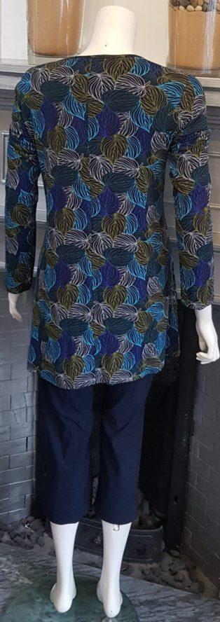 Capri – Leaf Pattern Tunic – Turquoise