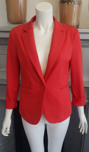 Saint Tropez – Short Fitted Jacket – Red (Copy)