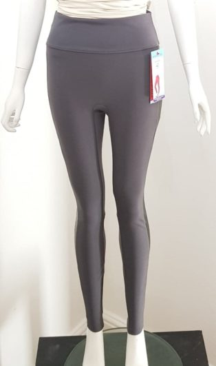 Spanx – Structured Leggings Racing Stripe – Charcoal & Black