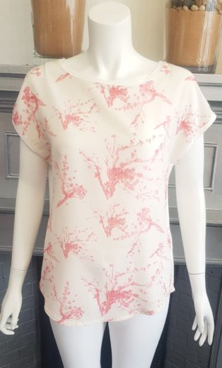 Soya Concept – Sue Top – Cream with Pinks