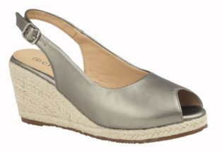 Cipriata – Wedge Heel Sling Back Sandal – Pewter