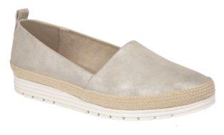 Cipriata – Manuela Deck  Shoe – Silver Shimmer