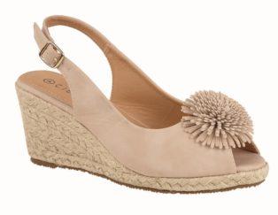 Cipriata – Buckle Wedge Heel Sandal – Nude