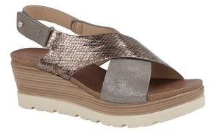 Cipriata – Crossover Wedge – Pewter & Bronze Reptile