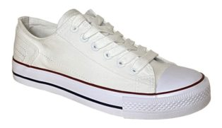 Cipriata – White Washed Canvas Shoe