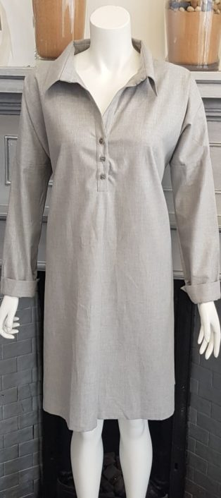 Jan N June – Shirt Dress – Light Grey