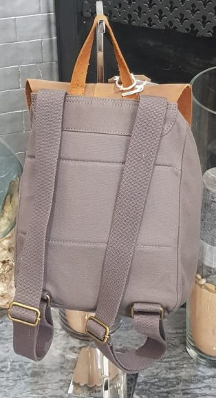 Forbes & Lewis – Small Backpack – Grey with Tan