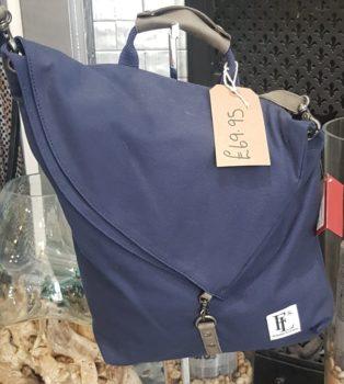 Forbes & Lewis – Canvas Shoulder Bag – Navy & Sage