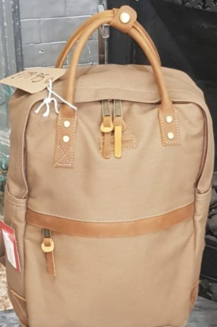 Forbes & Lewis – Canvas Backpack – Khaki Grey
