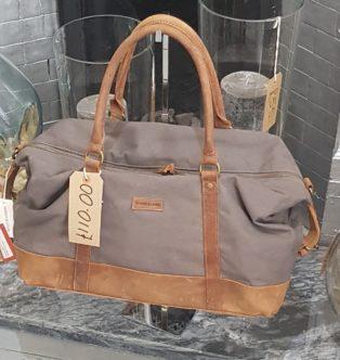 Forbes & Lewis – Travel Bag – Grey & Tan
