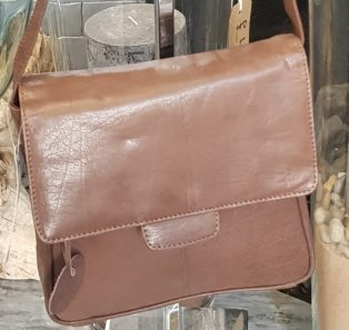 Ella Leather Shoulder Bag – Light Tan