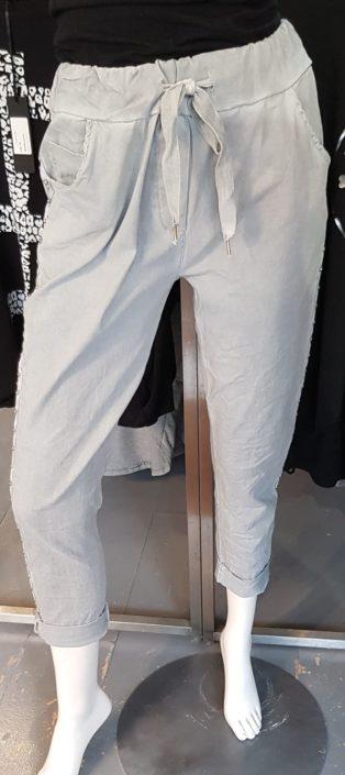 Biarritz Diamante Slouch Pant – Light Grey