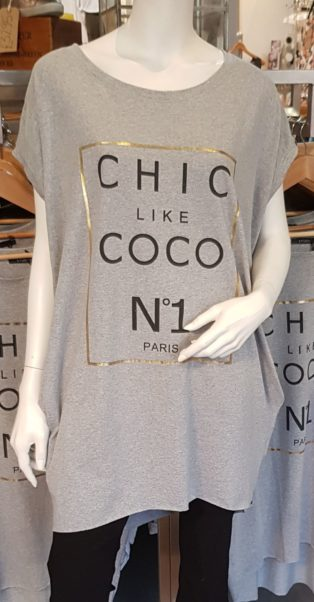 Chic like Coco No1 T.Shirt/Tunic – Grey