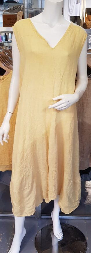 Alex – 100% Linen 'V' Neck Dress – Mango
