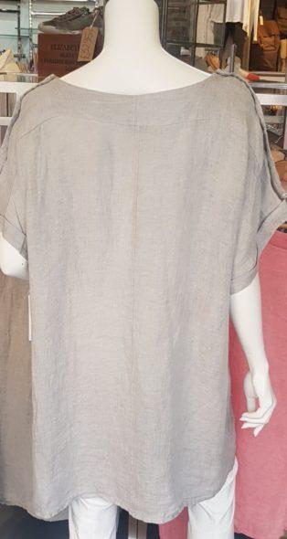 Avril 100% Linen Dress/Tunic – Mole Grey
