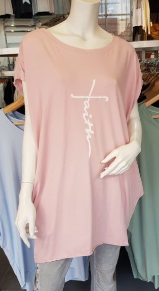 Faith T.Shirt/Tunic – Pink