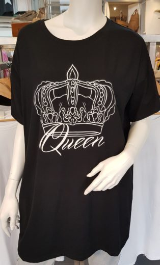 Lux Luna Queen T.Shirt – Black