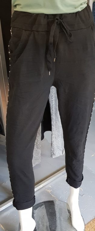 Biarritz Diamante Slouch Pant – Black