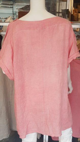 Avril 100% Linen Dress/Tunic – Pink