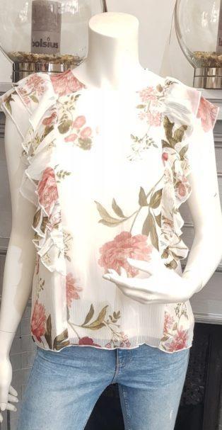 Vero Moda – LUCCA  TOP – Birch with Floral Print