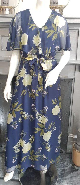 Vero Moda VMLUCCA FRILL MAXI DRESS WVN CE Night Sky