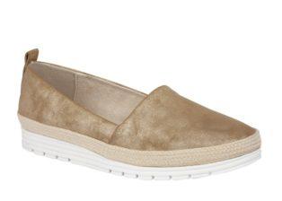 Manuela Deck Shoe – Gold Shimmer