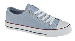 Light Blue Washed Canvas Shoe