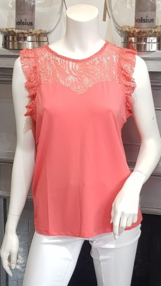 Vero Moda VMALBERTA SWEETHEART LACE S/L TOP COLOR Dubarry